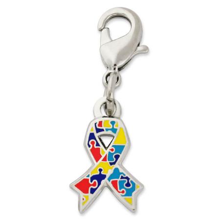 Autism Awareness Ribbon Charm