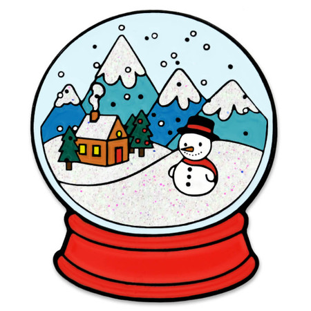 Snow Globe Pin Front
