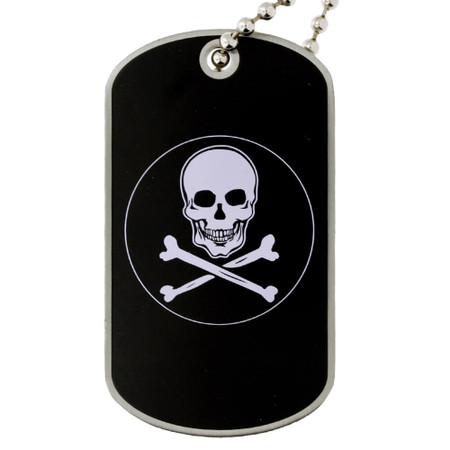 Skull and Cross Bones Dog Tag