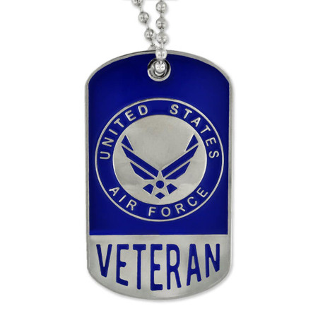 Air Force Veteran Dog Tag - Engravable Front