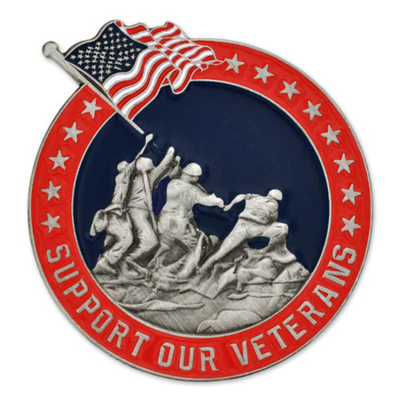 Veterans Support Pin Front