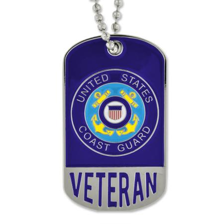 Coast Guard Veteran Dog Tag - Engravable Front