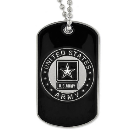Army Dog Tag - Engravable Front