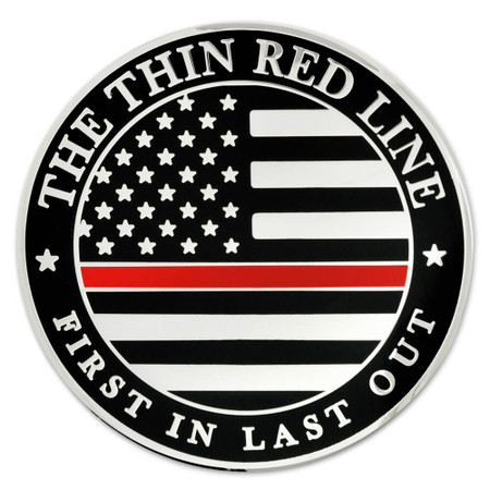 Thin Red Line Coin - Engravable Front