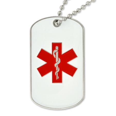 Medical Alert Dog Tag - Engravable Front