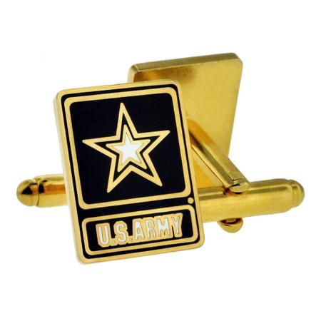 U.S. Army Star Logo Cufflink Set Back
