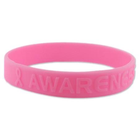 Rubber Awareness Bracelet - Pink