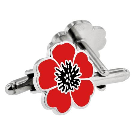 Poppy Flower Cufflink Set Main