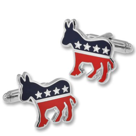 Political Democratic Donkey Cufflink Set