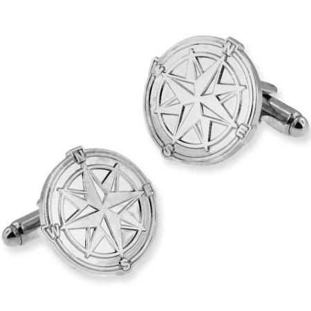 Compass North Star Cufflink Set