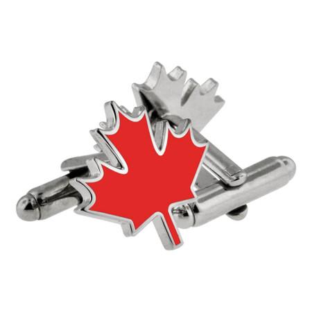 Canadian Maple Leaf Cufflink Set Main