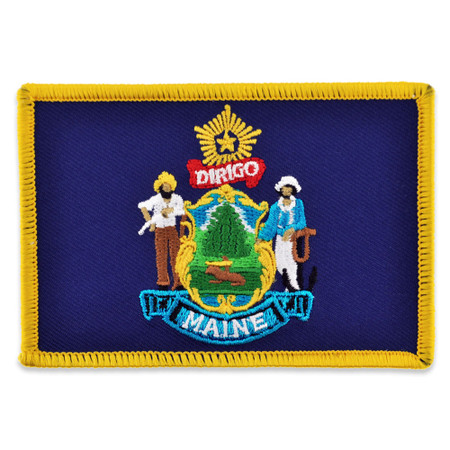 Patch - Maine State Flag Front