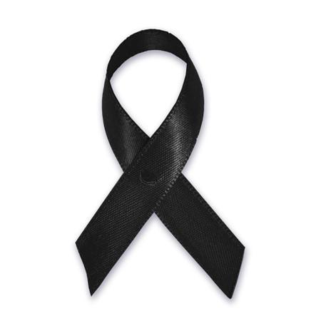 Black Cloth Awareness Ribbon - 25 Pack