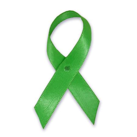 Green Cloth Awareness Ribbon - 25 Pack