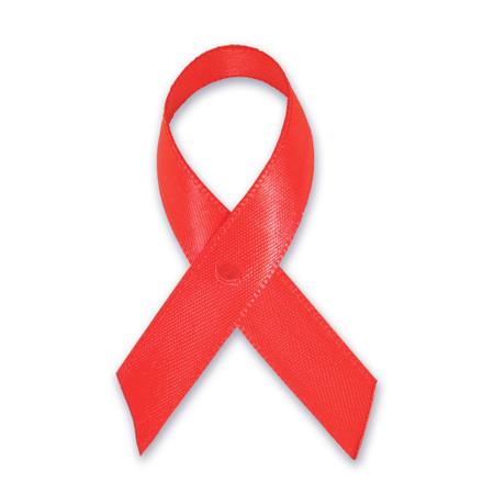 Red Cloth Awareness Ribbon - 25 Pack