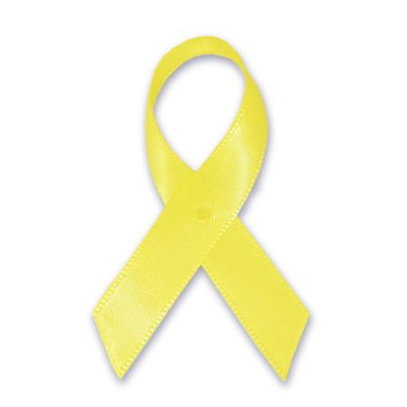 Yellow Cloth Awareness Ribbon - 25 Pack