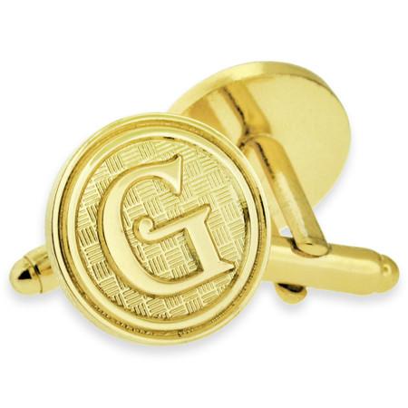 Letter G Cufflink Set Alt Gold