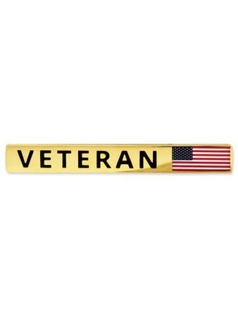 Veteran Flag Tie Clip Front
