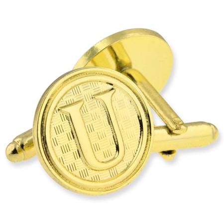 Letter U Cufflink Set Alt Gold