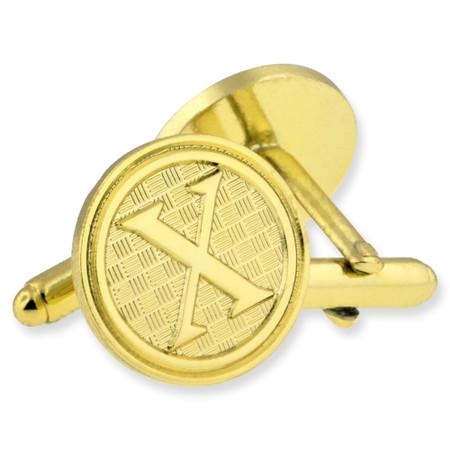 Letter X Cufflink Set gold side