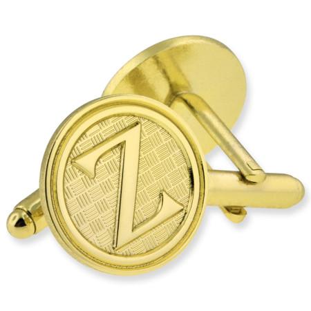Letter Z Cufflink Set Gold Side