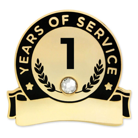 Years Of Service Pins-Engravable Front