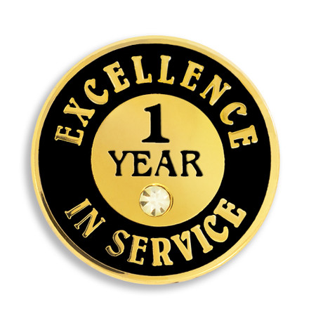 Excellence In Service Pin - 1 Year Front