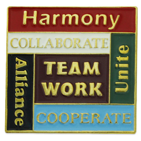 Corporate - Harmony, Teamwork, Unite Pin Front