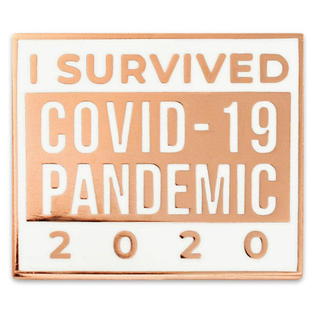 I survived Covid-19 Lapel Pin Front