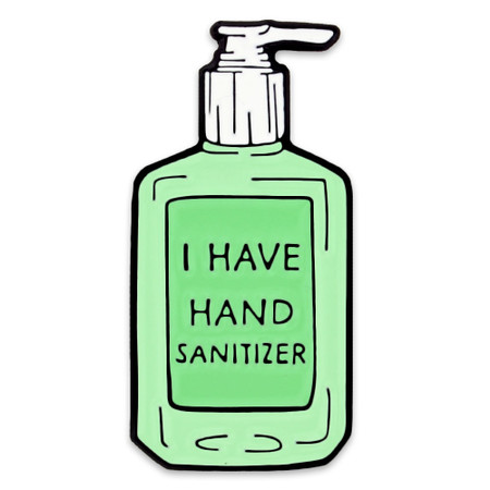 I have Hand Sanitizer Lapel Pin Front