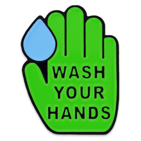 Wash Your  Hands Lapel Pin Front