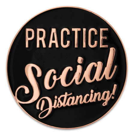Social Distancing Lapel Pin Front