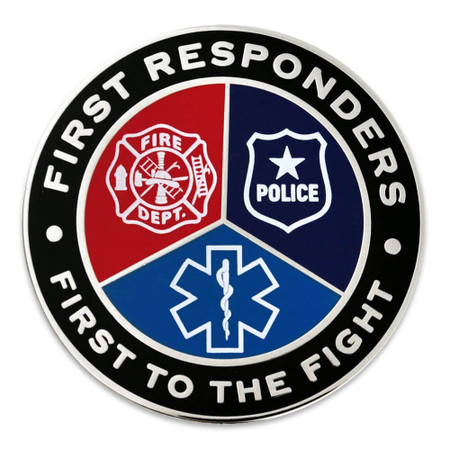 First Responders First To Fight Lapel Pin front