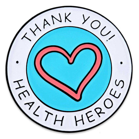 Health Heroes Lapel Pin Front