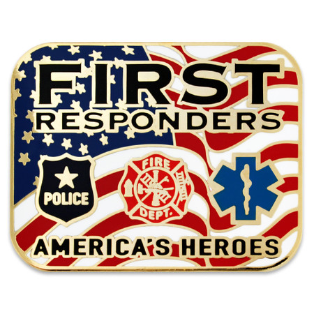 First Responders Heroes Lapel Pin Front