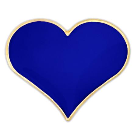 Blue Heart Lapel Pin Front