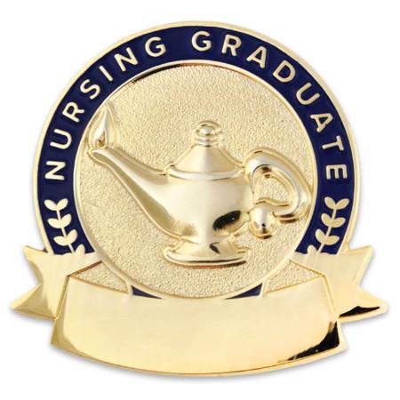 Engravable Nursing Graduate Lamp Pin Front