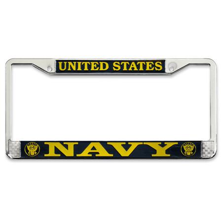 US Navy License Plate Frame Front