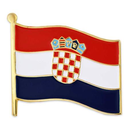 Croatia Flag Lapel Pin Front