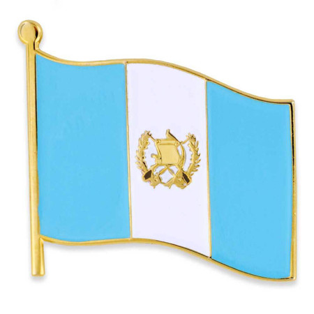 Guatemala Flag Lapel Pin Front