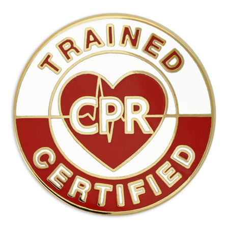 CPR Certified/Trained Lapel Pin front