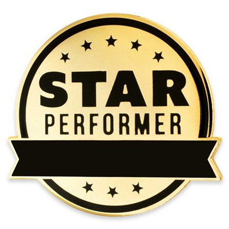 Engravable Star Performer Pin front