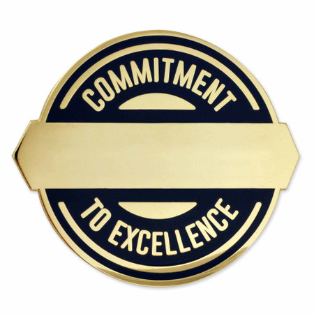 Commitment to Excellence Engravable Pin Front