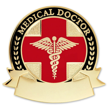 Engravable Medical Doctor Lapel Pin Front