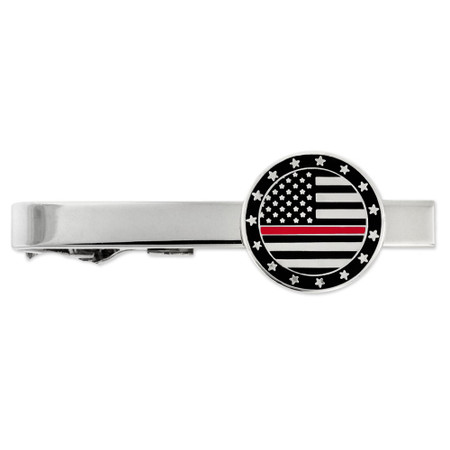 Red Line Tie Clip on card Engravable Front