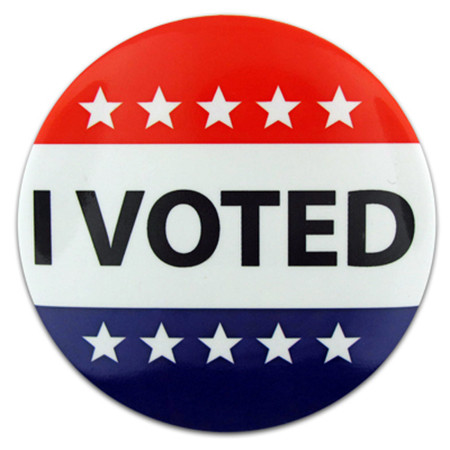 I Voted Button Front
