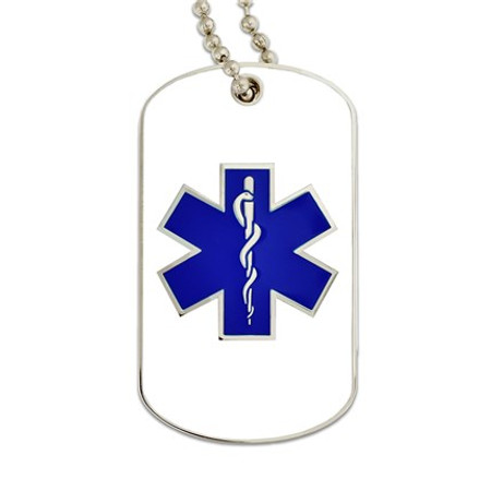 EMS Dog Tag Engravable Front