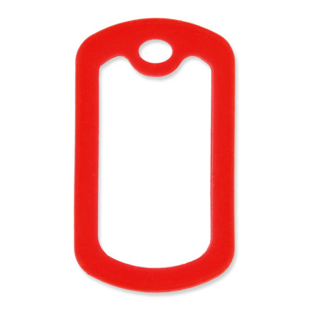 Military Dog Tag Silencer - Red
