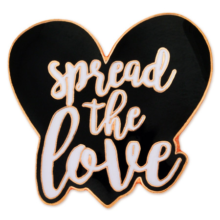 Spread The Love Pin - Black Front