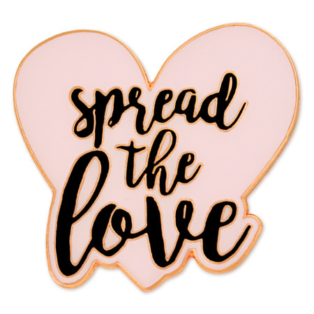 Spread The Love Pin - Pink Front
